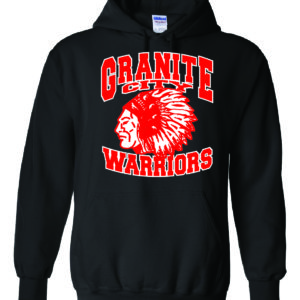 Granite City Warriors Black Hoodie Minutemen Press