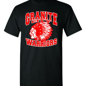 Granite City Warriors Black T-Shirt Minutemen Press