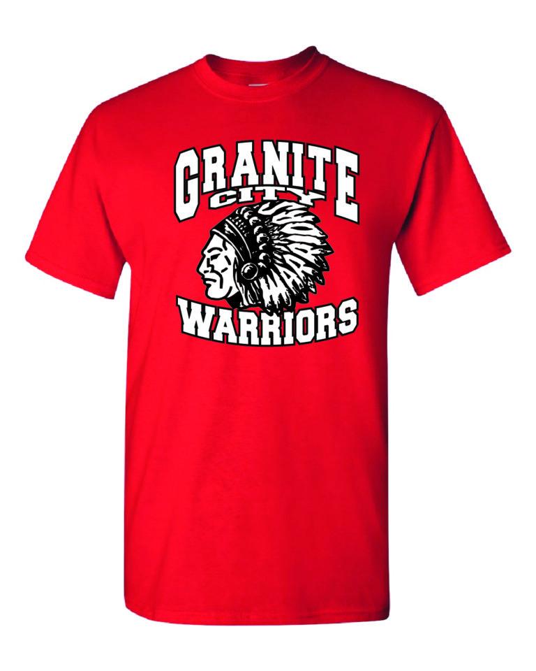Granite City Warriors Red T-Shirt Minutemen Press