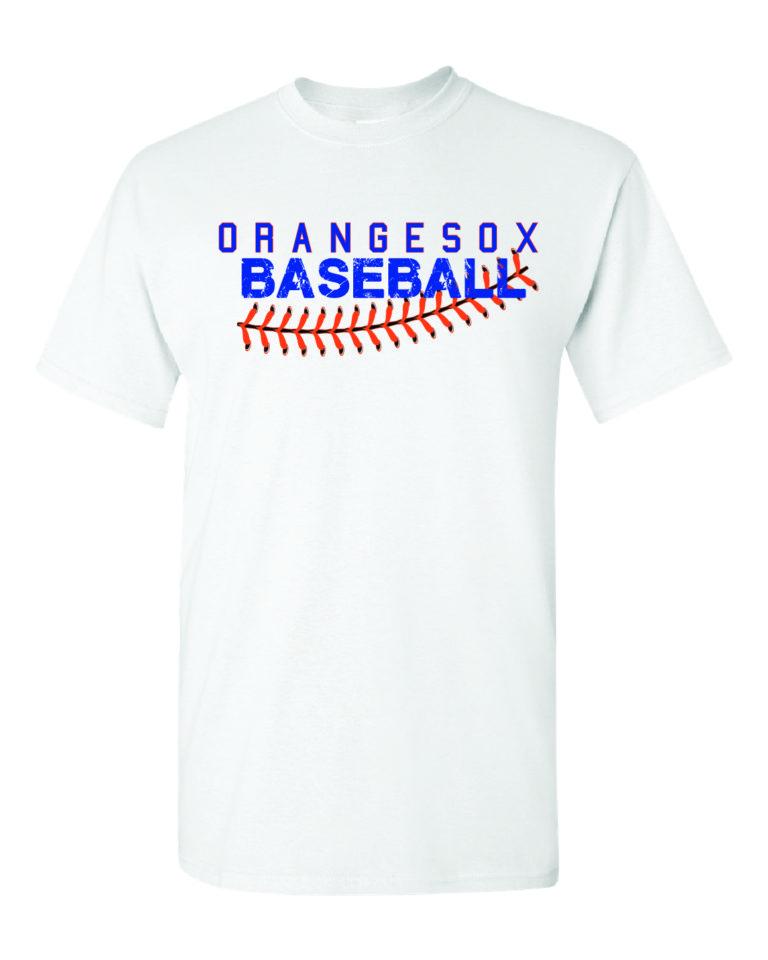 Orangesox White T-Shirt Minutemen Press